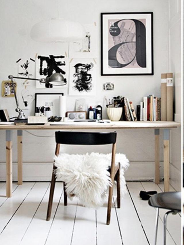 blanc tendance couleur deco bureau parquet blanc