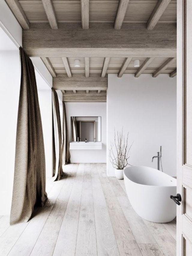 blanc tendance couleur deco salle de bain reventement