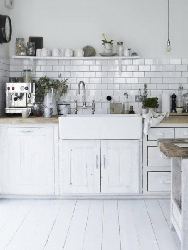 blanc tendance couleur deco cuisine carrelage metro