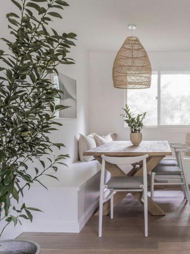 blanc tendance couleur deco banquette salle à manger