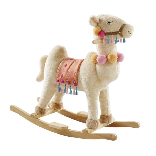 cadeau noel enfant decoration maisons du monde lama à bascule