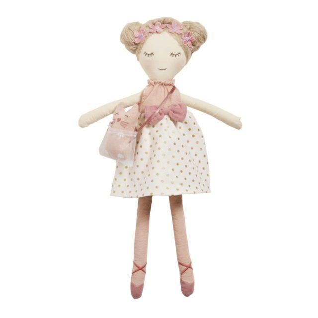 cadeau noel enfant decoration maisons du monde poupée tissus rose