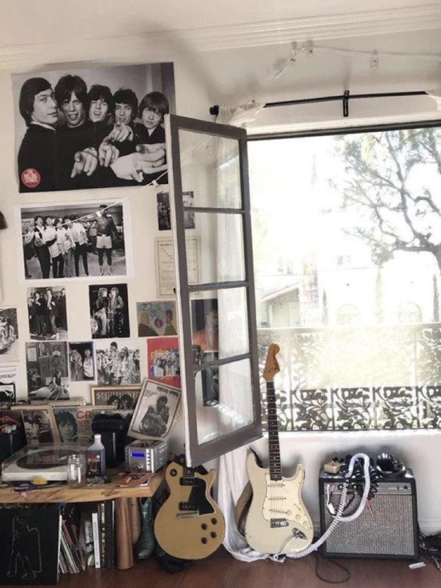 chambre ado style rock guitare