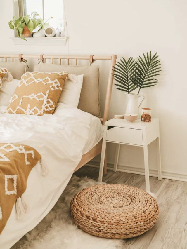 chambre style nature chic exemple mobilier moderne