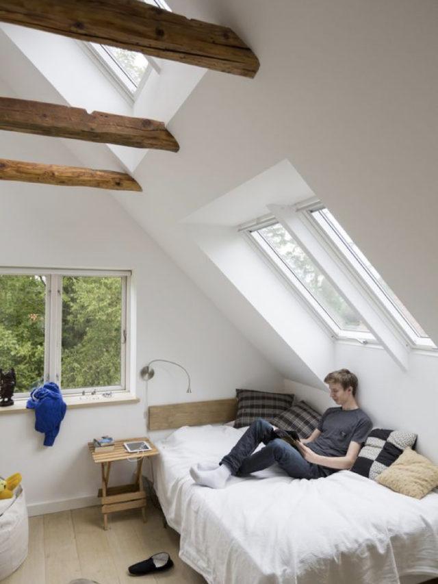 combles aménagement chambre ado exemple lit fenêtre de toit