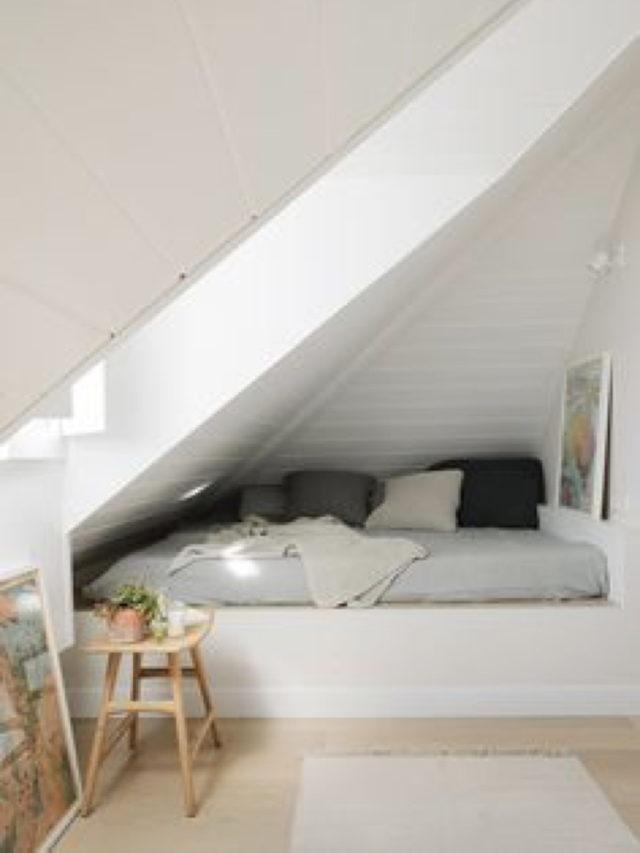 combles aménagement chambre ado exemple niche lit enfant decoration