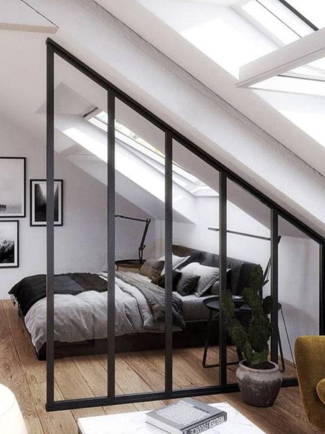 combles aménagement chambre ado exemple verrière claustra