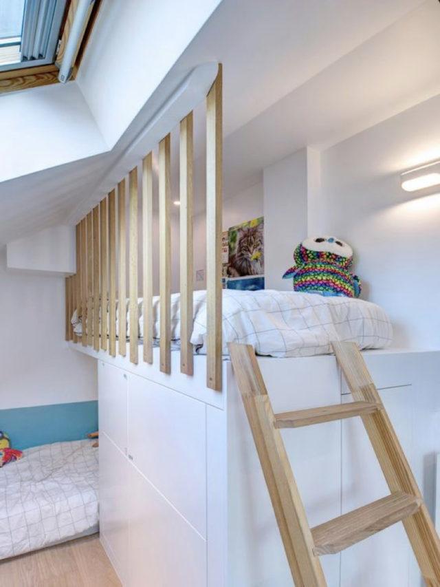 combles aménagement chambre ado exemple lit mezzanine claustra rembarde