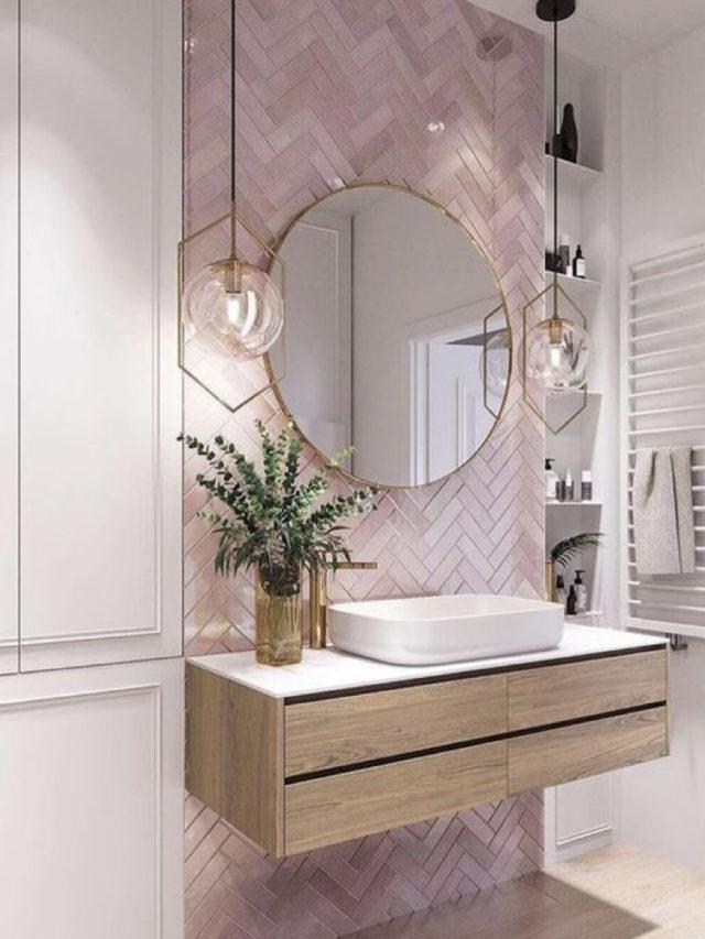 comment utiliser blanc pour decorer carrelage rose et peinture blanche salle de bain