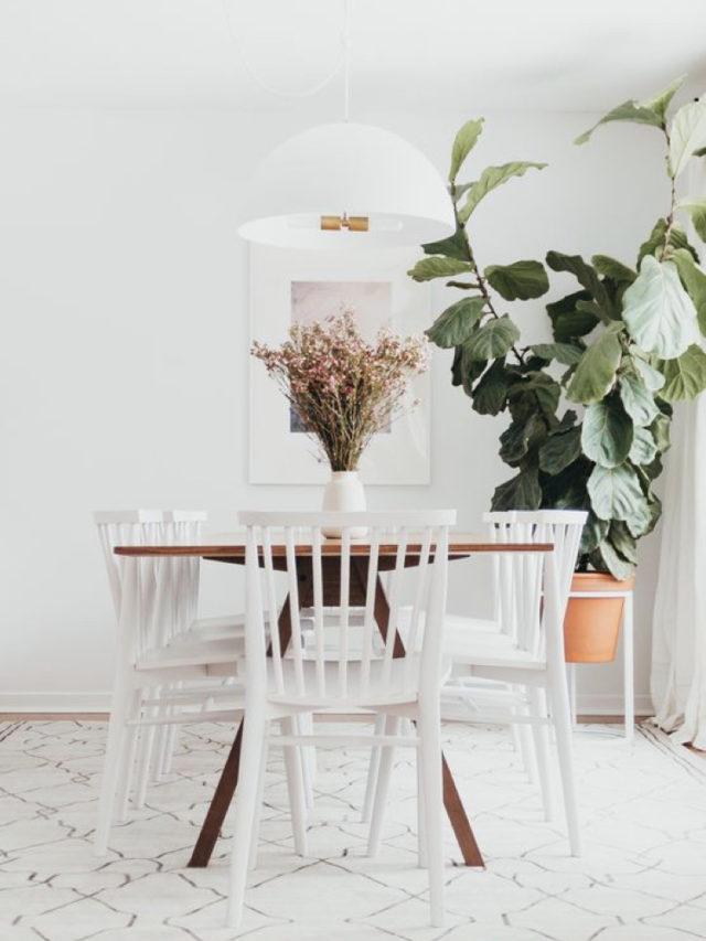couleur deco blanc tendance chaise salle a manger