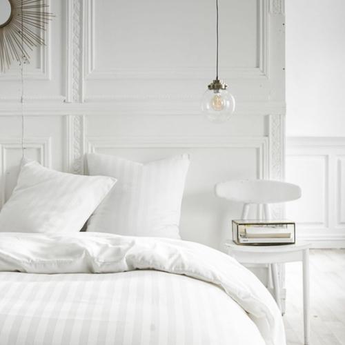 deco chambre blanc shopping parure de lit