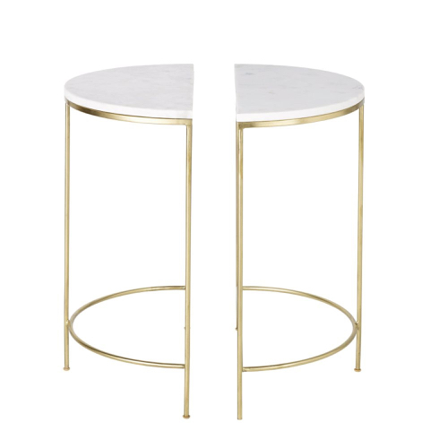 deco chambre blanc shopping table de chevet modern glam marbre et or