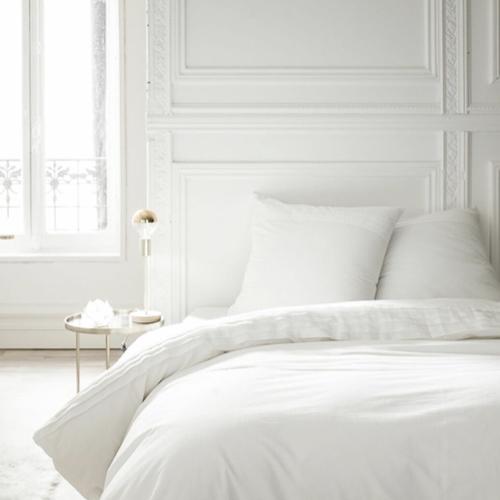 deco chambre blanc shopping parure de lit simple unie