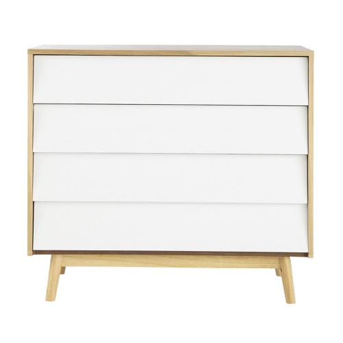 deco chambre blanc shopping commode moderne bois et blanc