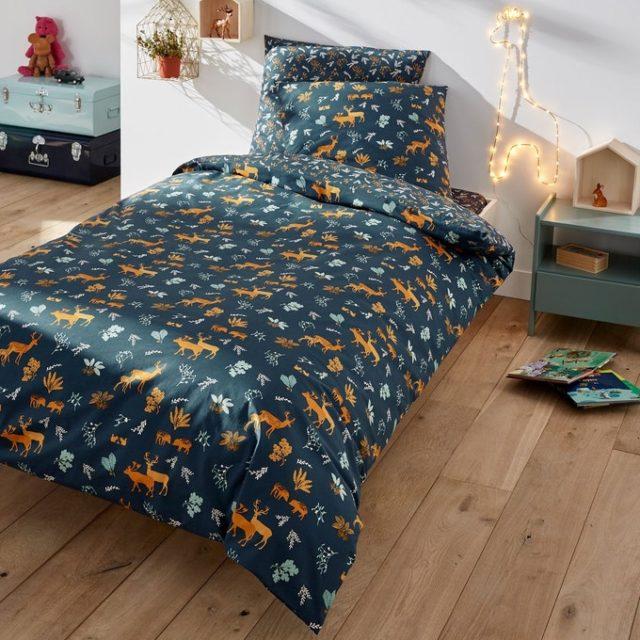 deco chambre enfant ecoresponsable parure lit cerfs