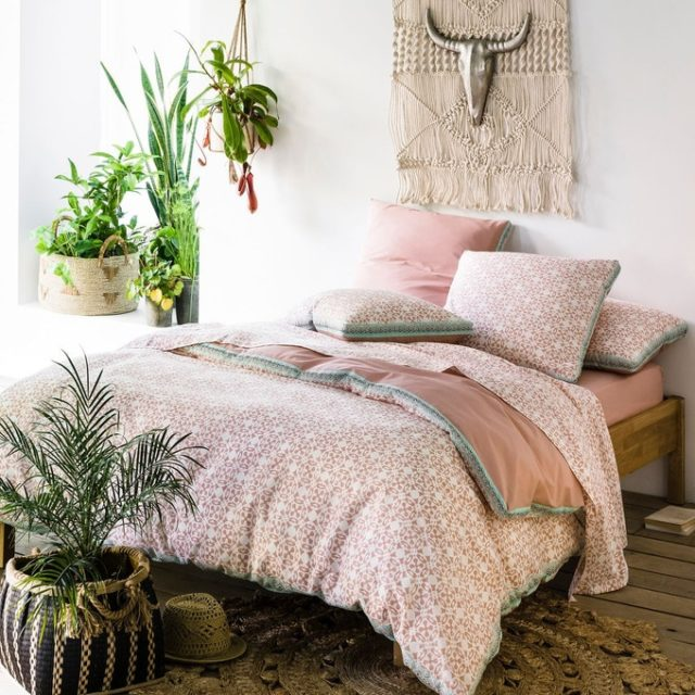 deco chambre parentale ecoresponsable parure de lit moderne
