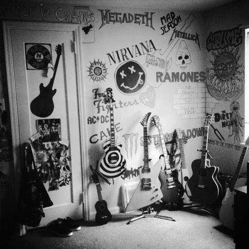 deco murale chambre ado rock guitare