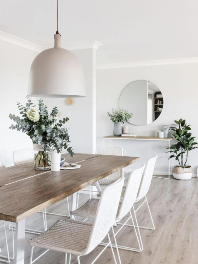 deco salle a manger blanche exemple style slow