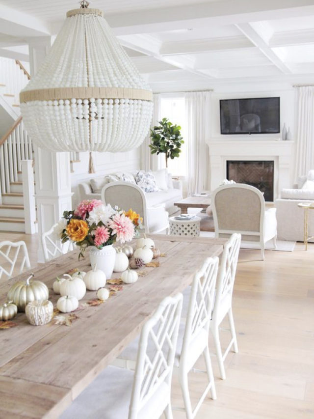 deco salle a manger blanche exemple bois elegance