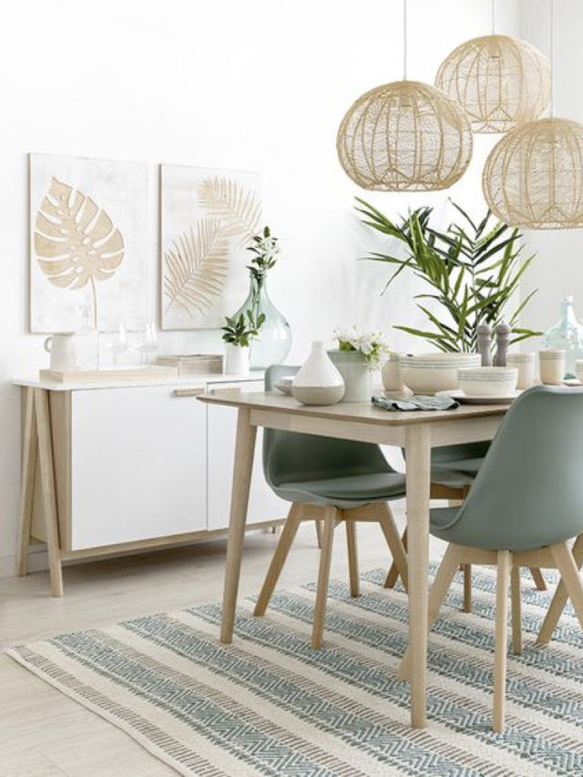 deco salle a manger blanche exemple style nature