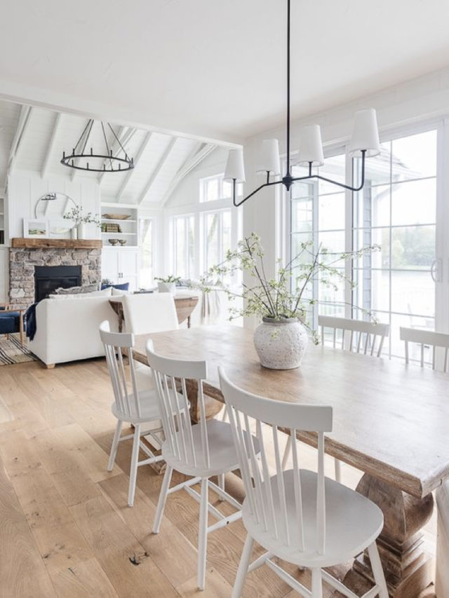 deco salle a manger blanche exemple chaise scandinave