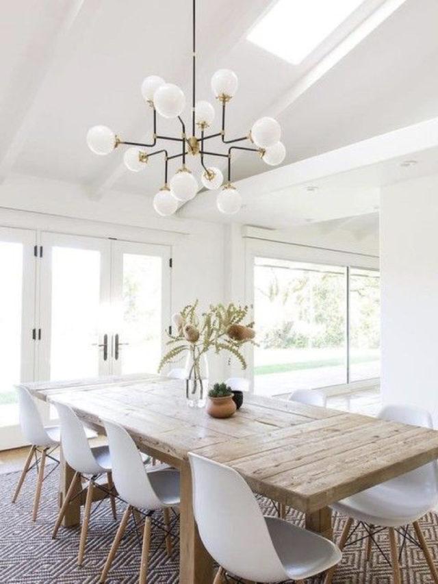 deco salle a manger blanche exemple elegant et moderne