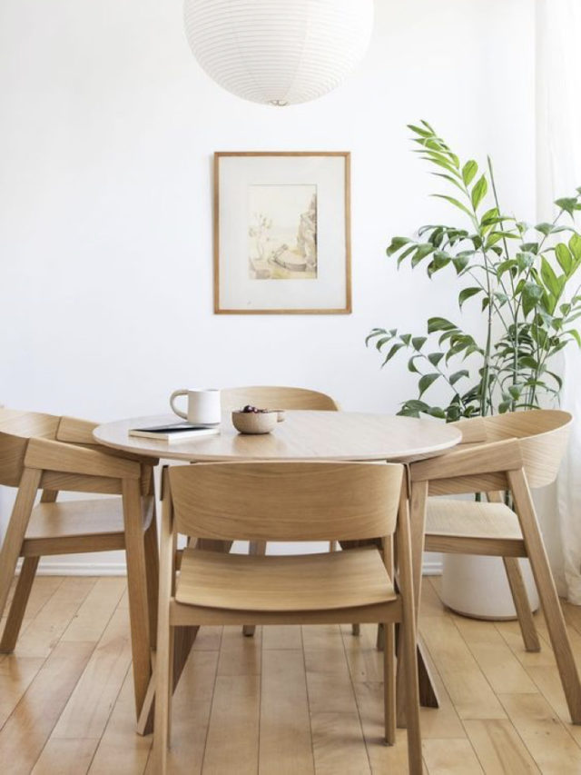 deco salle a manger blanche exemple table ronde