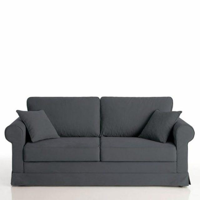 deco salon ecoresponsable la redoute canapé gris