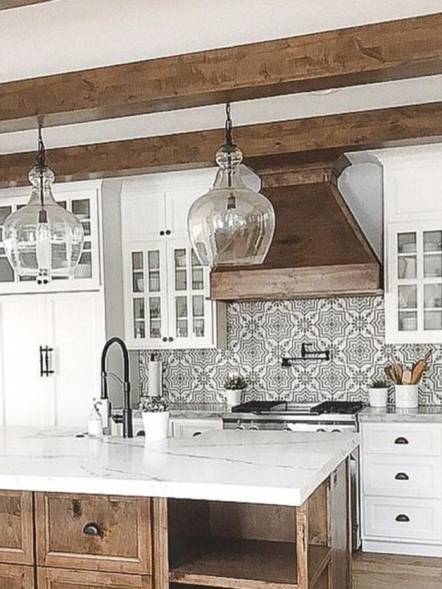decoration blanc utilisation exemple cuisine poutre apparente style campagne chic