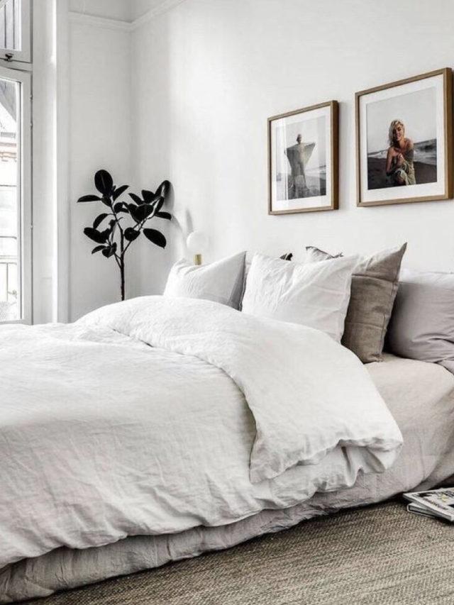 decoration chambre blanche exemple simple et elegant