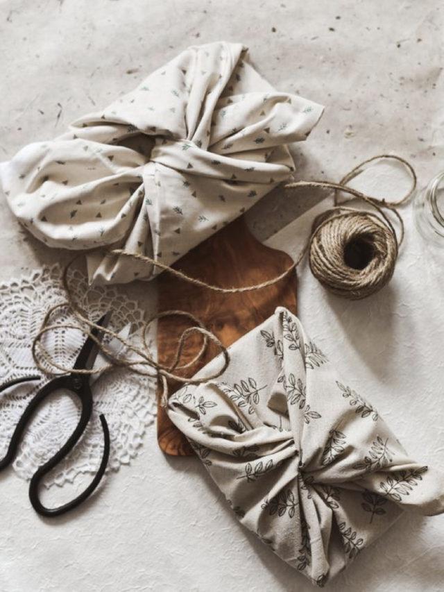 emballage cadeau durable ecologique sans papier