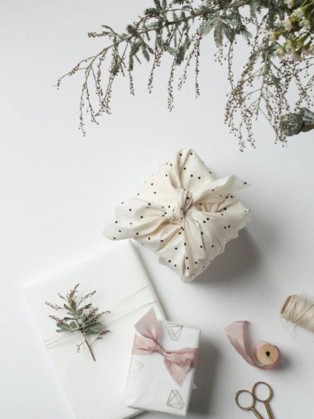 emballage cadeau durable ecologique pliage japon elegant
