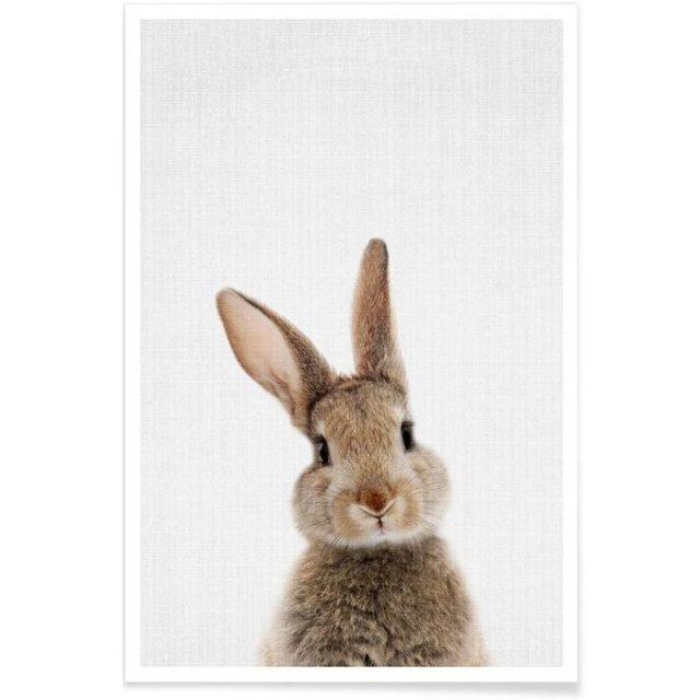 enfant cadeau noel deco affiche lapin mignon