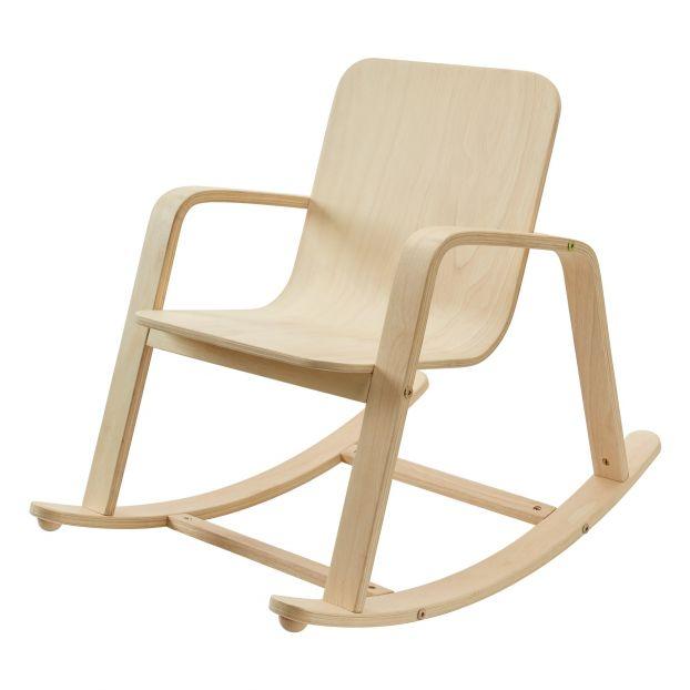 enfant cadeau noel smallable chaise à bascule bois scandinave