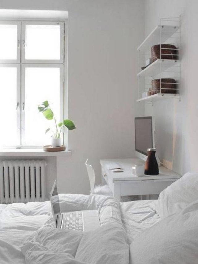 exemple decoration chambre blanche moderne tendance étudiant
