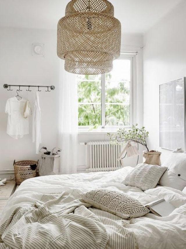 exemple decoration chambre blanche moderne ambiance naturelle et simple