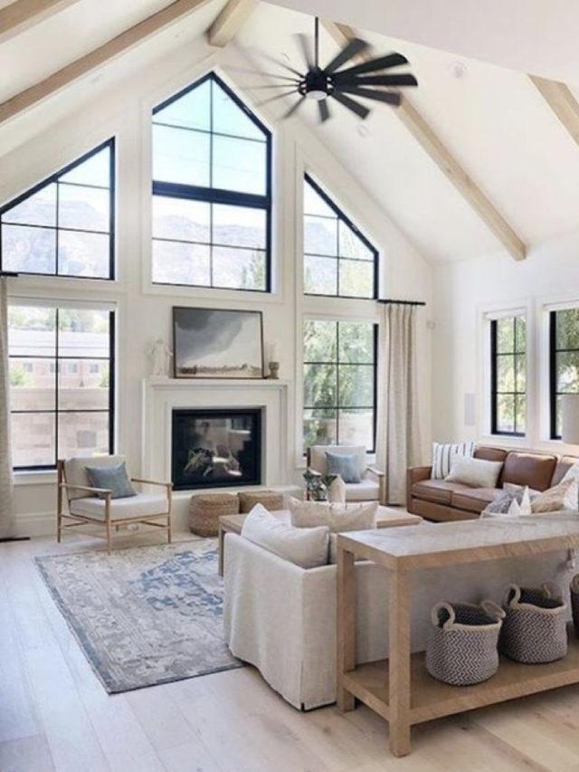 exemple renovations salon lumineux baies vitrées et fenêtres design