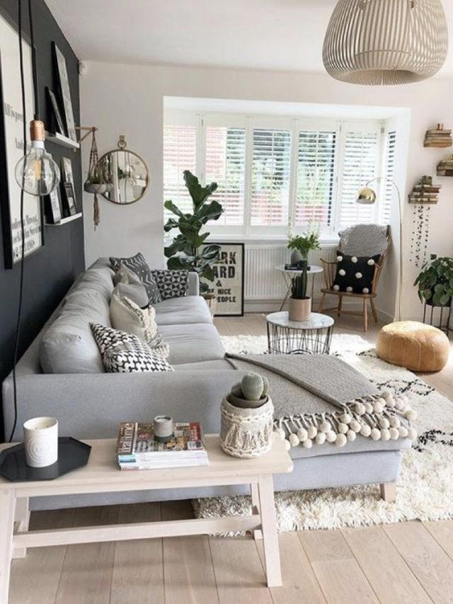 exemple renovations salon lumineux parquet idée décoration