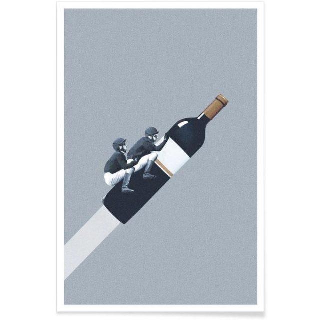 fan apero cadeau noel deco poster bouteille de vin