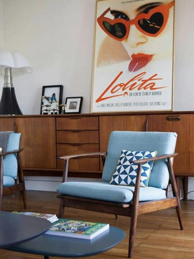 fauteuil annees 50 style salon vintage