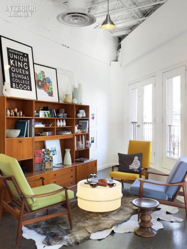 fauteuil annees 50 salon arty couleur