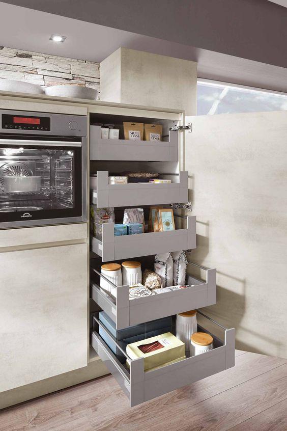 gain de place astuce cuisine colonne