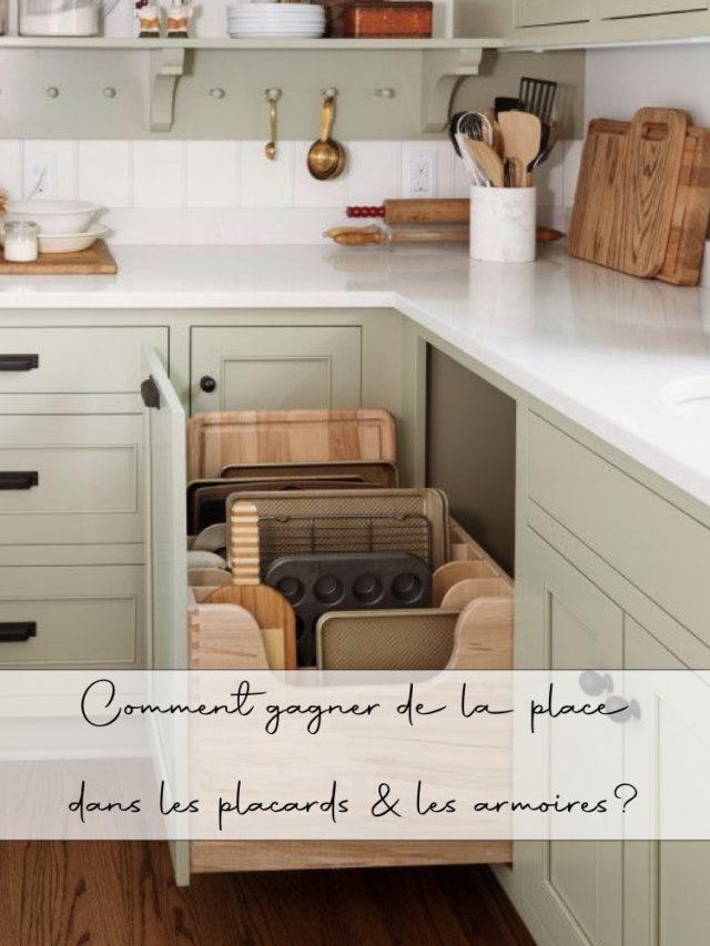 gain de place placards armoires exemples cuisine et chambre