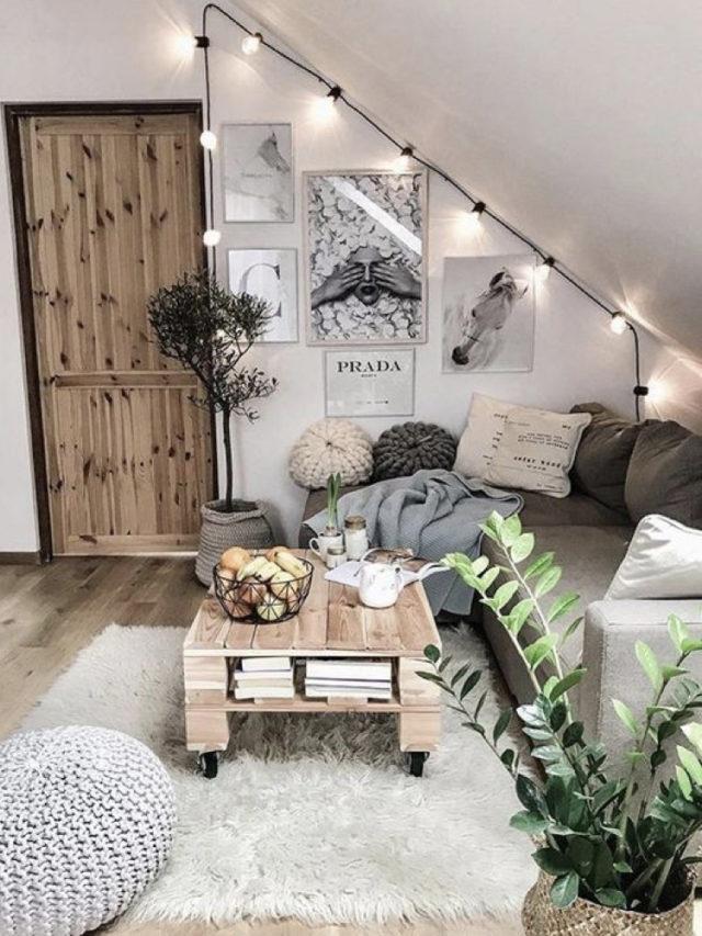 nesting decoration interieure cosy petit salon combles