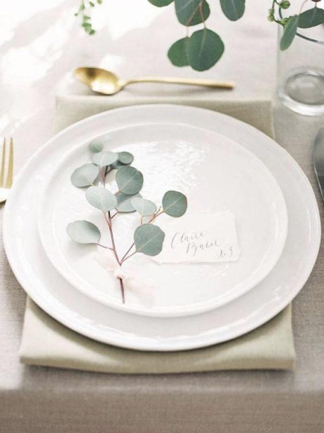noel idee a copier eucalyptus assiette et marque place
