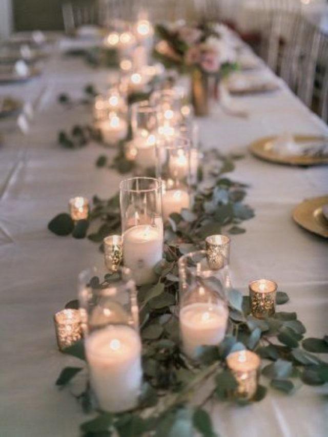 noel idee a copier eucalyptus chemin de table bougies