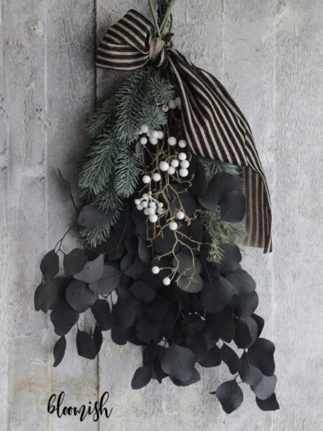 noel idee a copier eucalyptus DIY bouquet fleurs séchées
