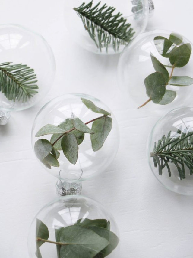 noel idee a copier eucalyptus DIY boule sapin