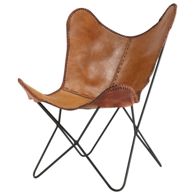 offrir mobilier deco noel fauteuil papillon cuir