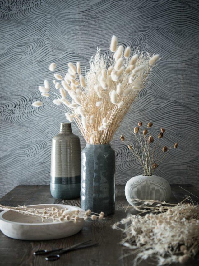 offrir mobilier deco noel fleurs séchées naturelles